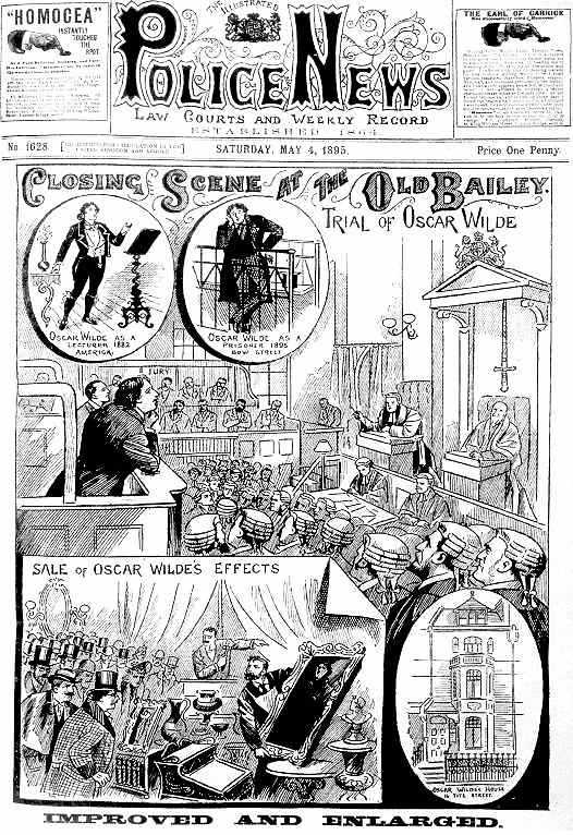 Proceso de Oscar Wilde(The Illustrated Police News, 1895)