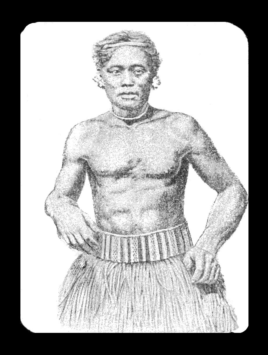 PSM V39 D818 South sea islander with liku.jpg