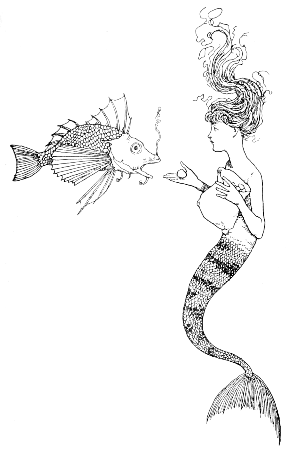 Printable Mermaid Coloring Pages For Adults