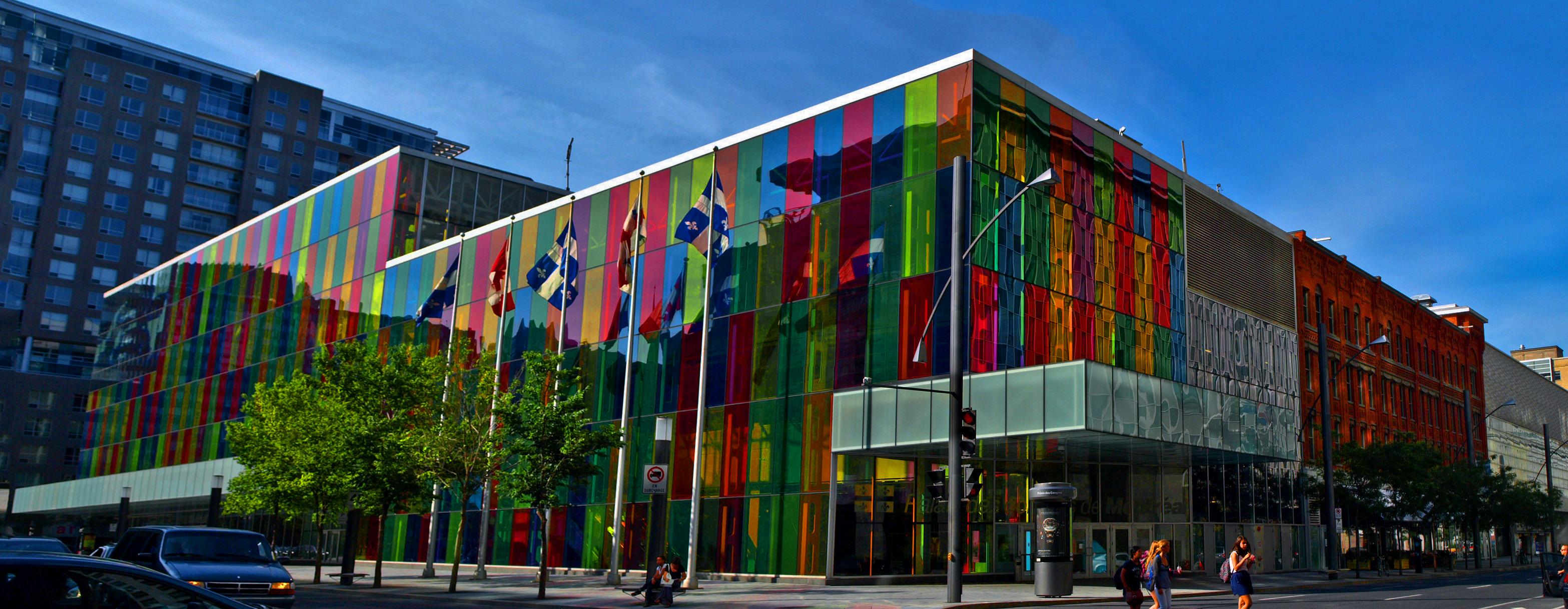 Centre Commercial Palais Des Congrès file:panorama for the exterior of palais des congrès de montréal