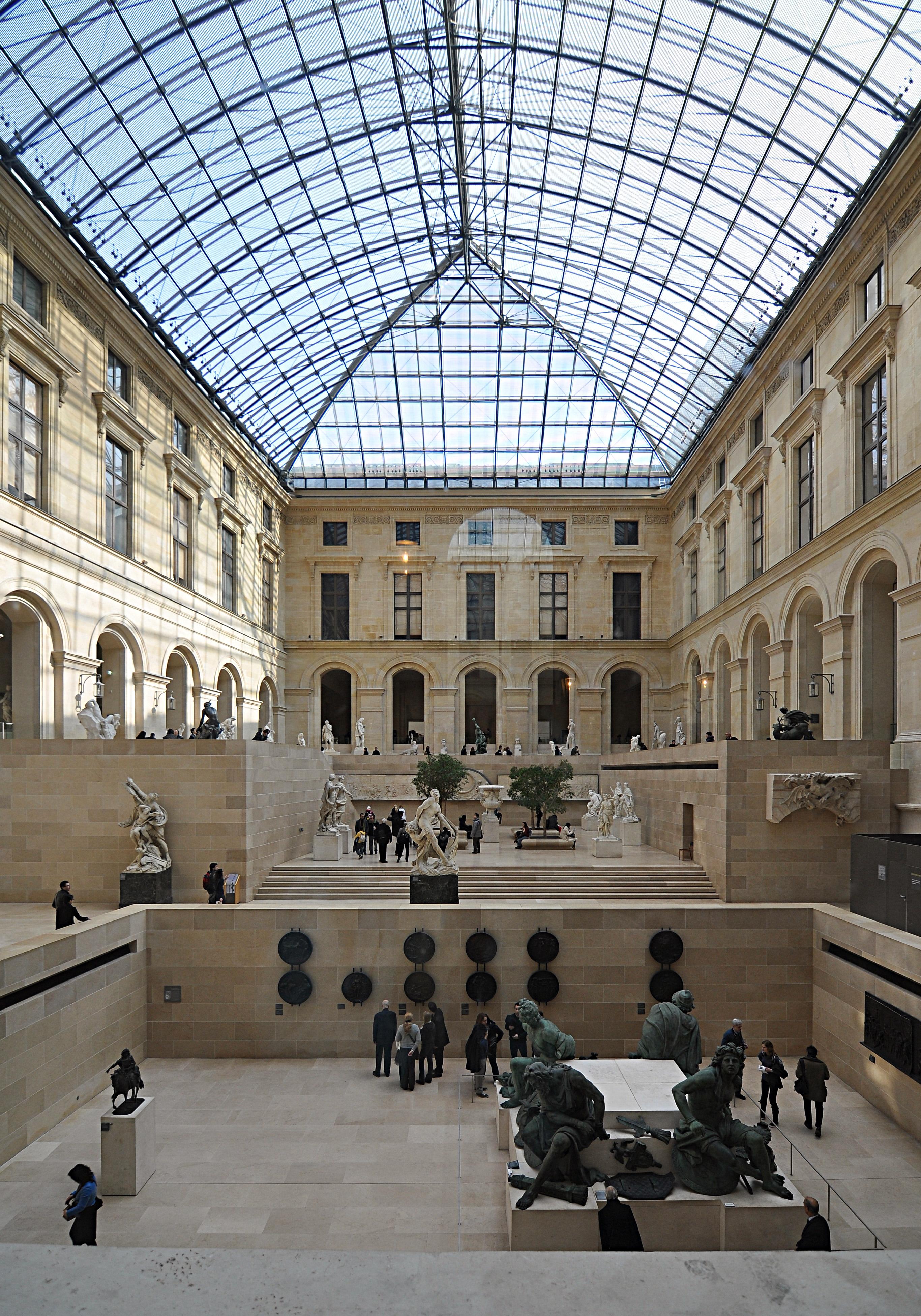 File paris mus e du louvre cour puget wikimedia commons - Date construction du louvre ...
