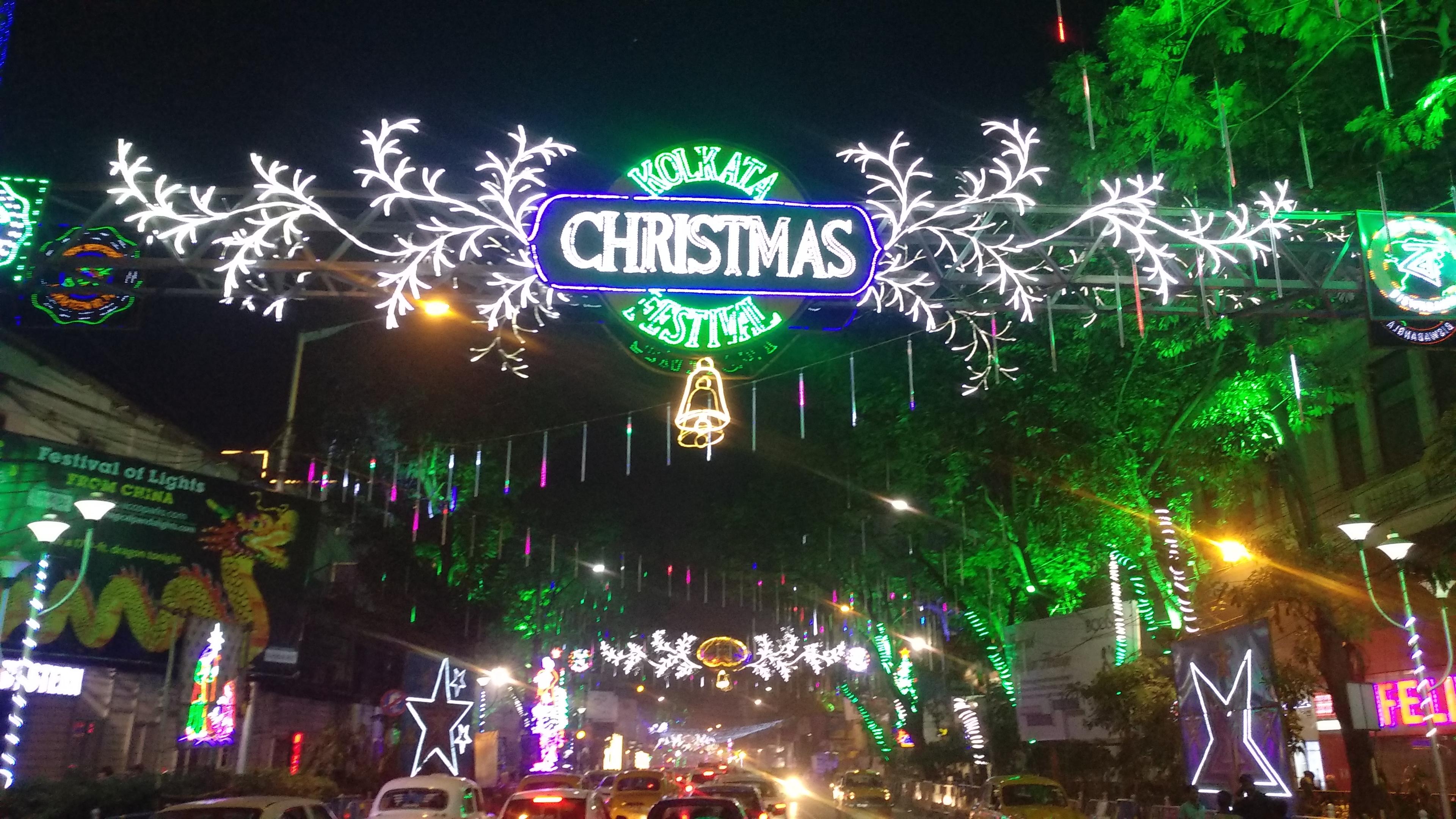 Park Street Kolkata During Christmas.File Parkstreet Christmas Kolkata Jpg Wikimedia Commons