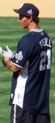 Paul O'Neil at the 2008 All Stars and Legends ...
