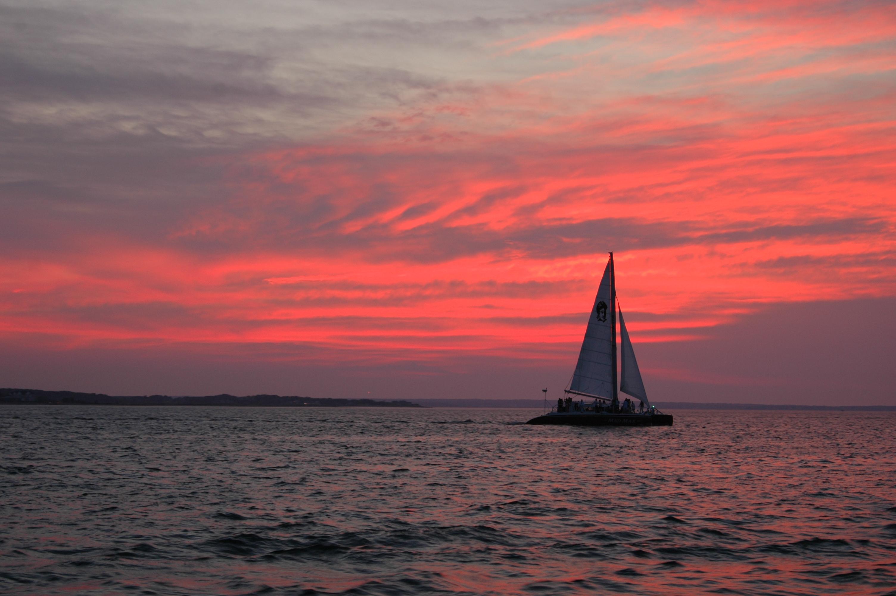 sunset sailing boats rocks - photo #8