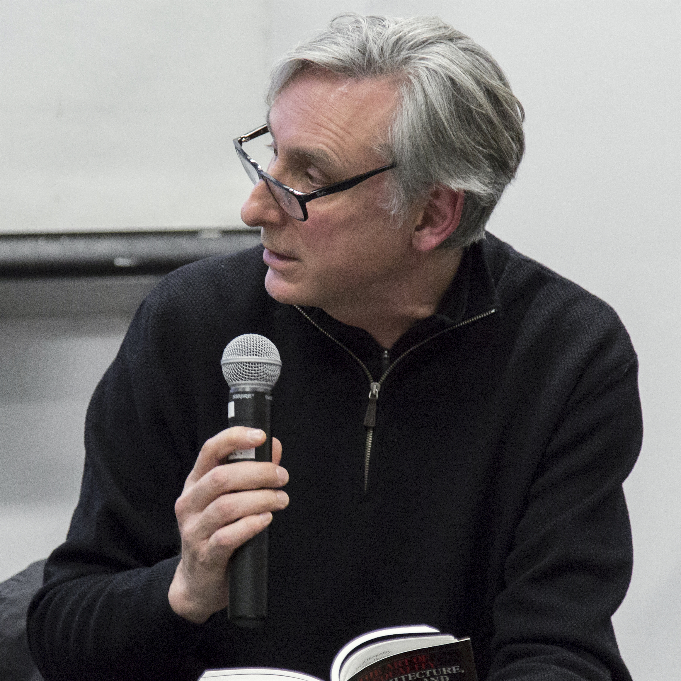 "Martin at ""The Art of inequality"" event at Columbia GSAPP (2016)"
