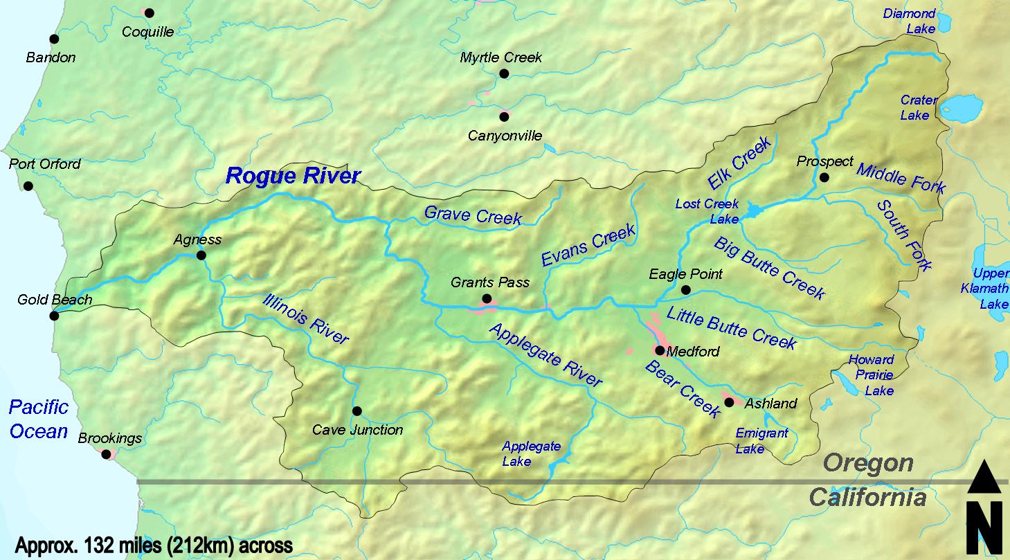 Description rogue river watershed
