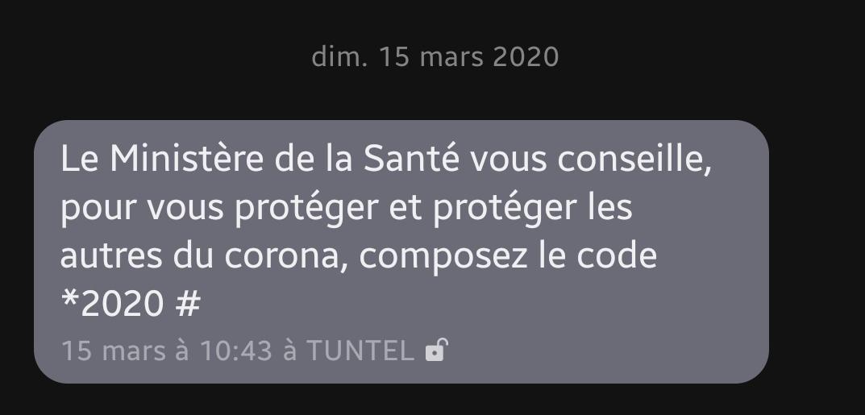 SMS, ministère de la santé tunisien, COVID-19.jpg