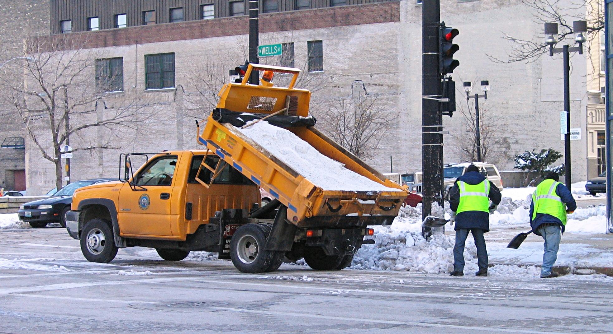 Salt Truck in Milwaukee, Wisconsin