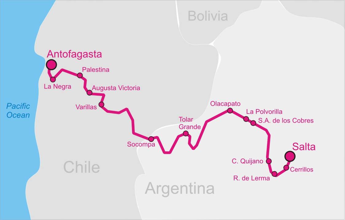 SaltaAntofagasta Railway Wikipedia - Argentina map salta