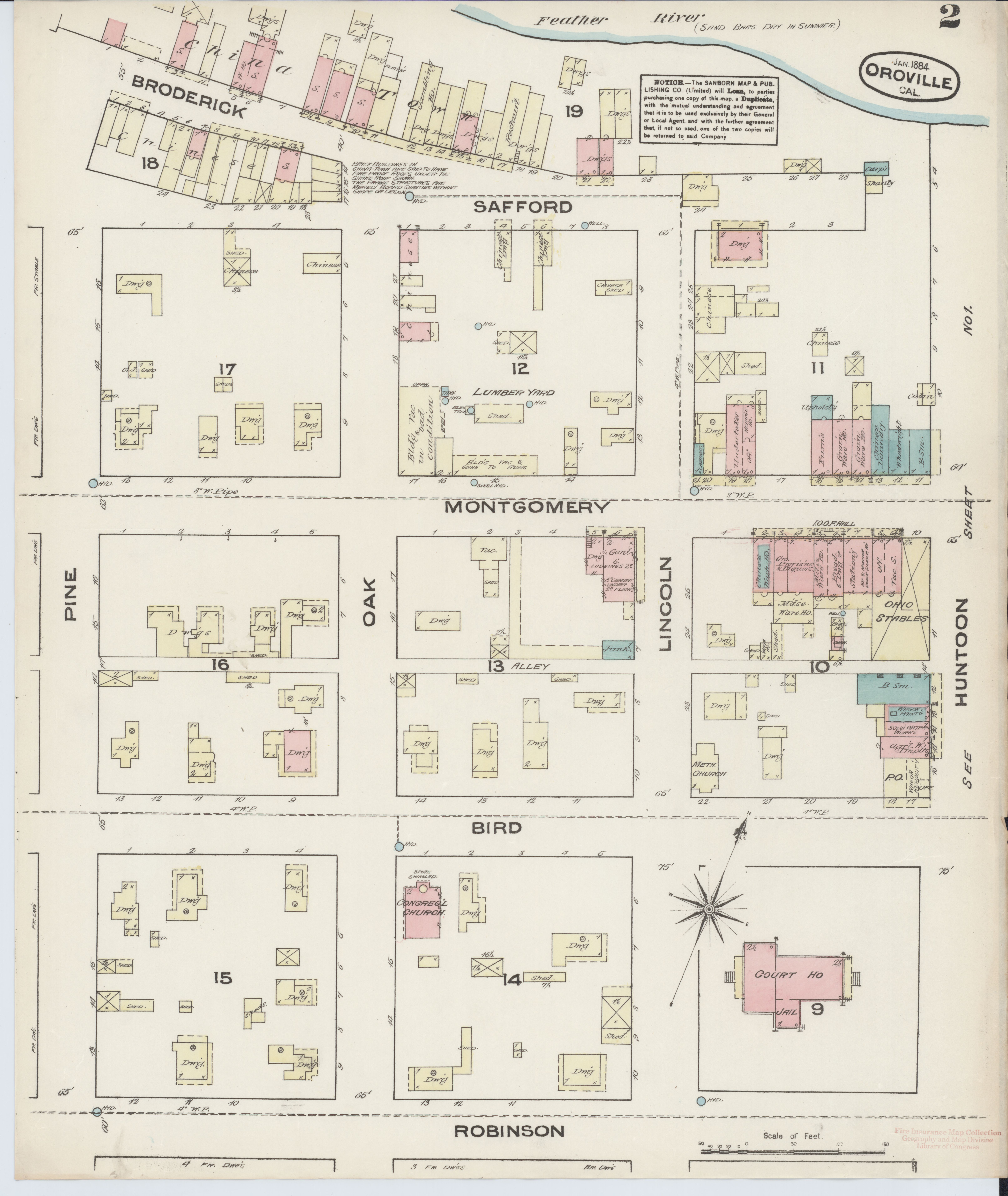 California Map Oroville.File Sanborn Fire Insurance Map From Oroville Butte County