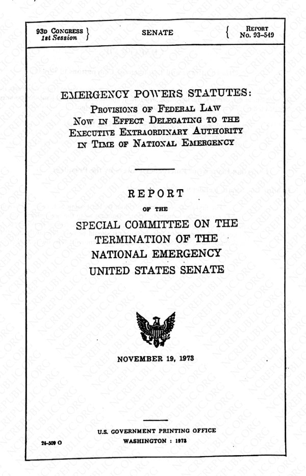 SENATE REPORT NO 93 549 EBOOK DOWNLOAD