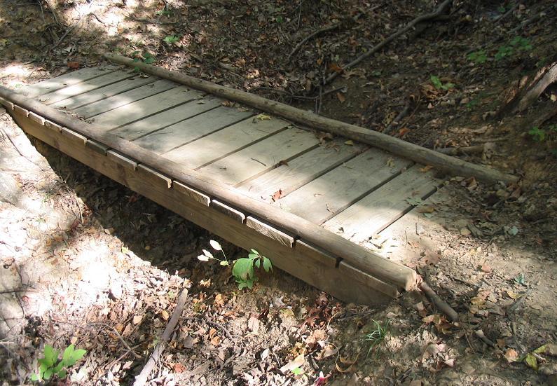 Small Wooden Bridge Construction