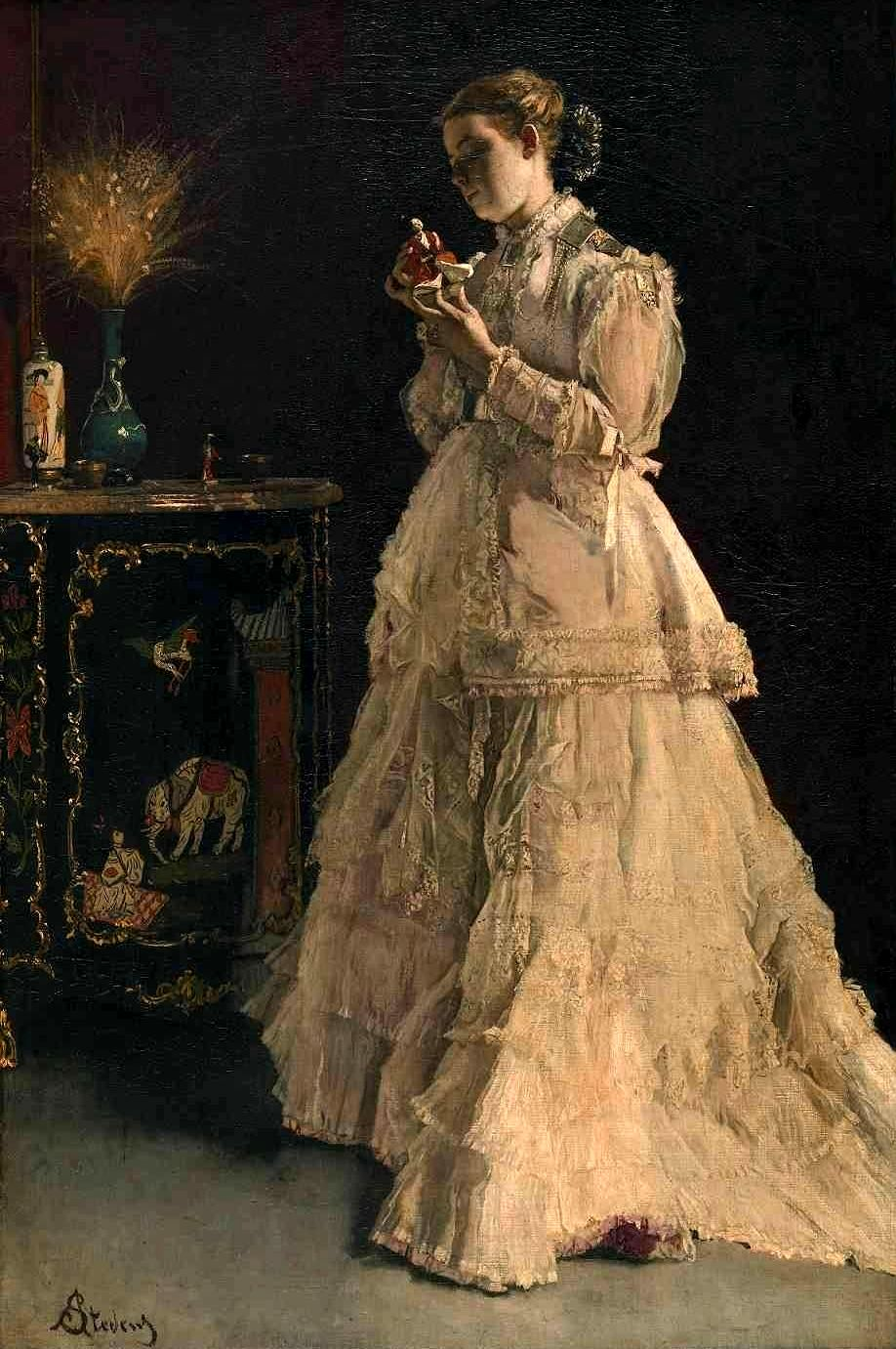 English: The Lady in Pink Français : La Dame e...