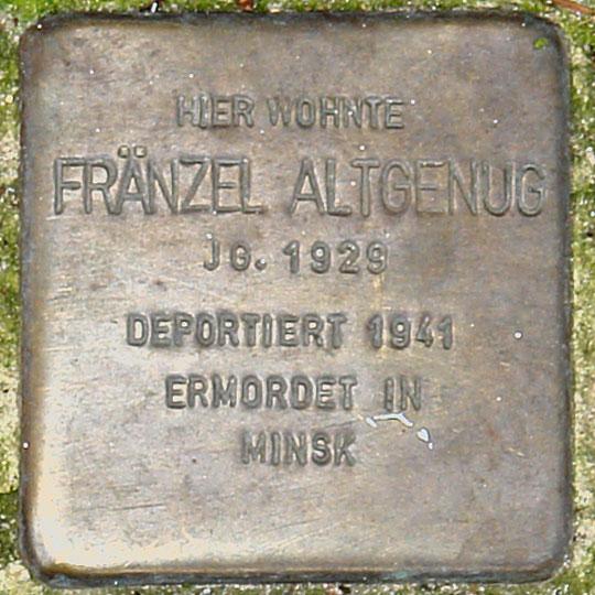Stolperstein HB-Charlottenstr. 28 - Franzel Altgenug - 1926.jpg