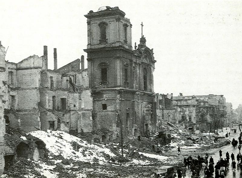 Eglise Sw Krzyza (église Sainte Croix) à Varsovie.