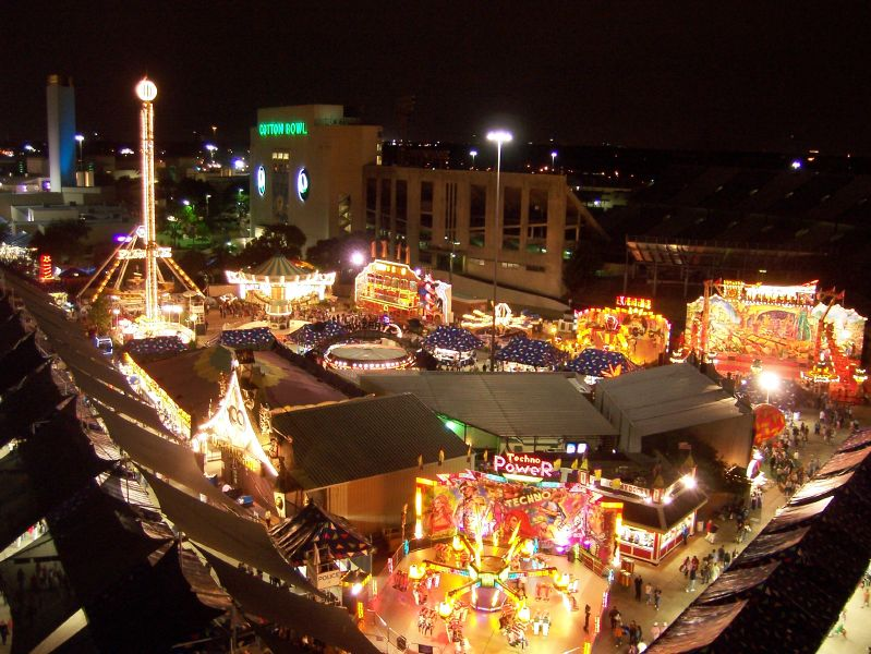Texas State Fair at night