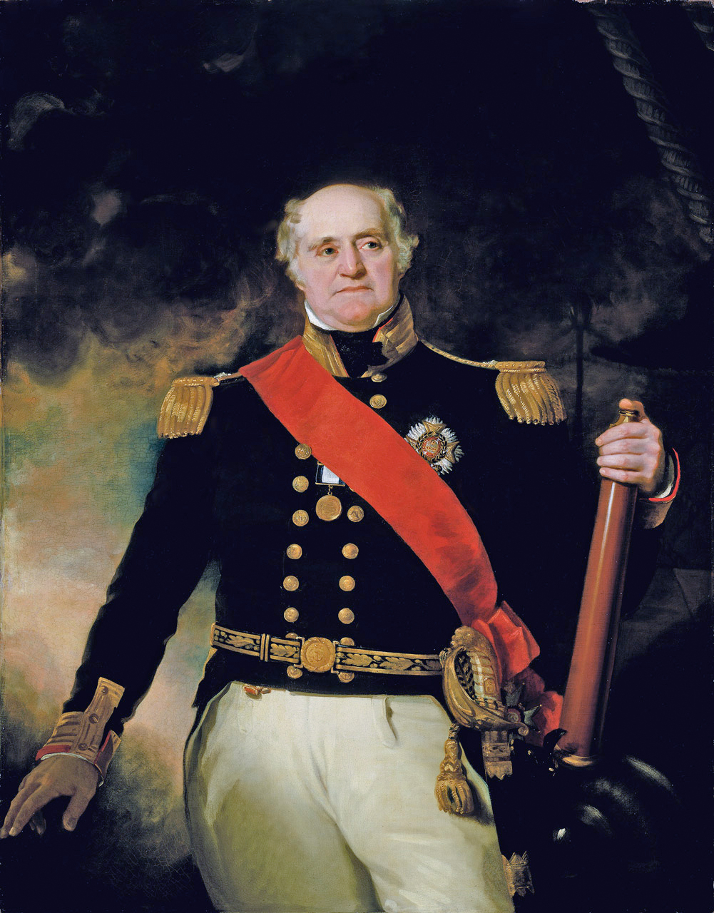 Captain Thomas Masterman Hardy - from the painting by Robert Evans, at Greenwich Hospital. Source: Wikimedia Commons