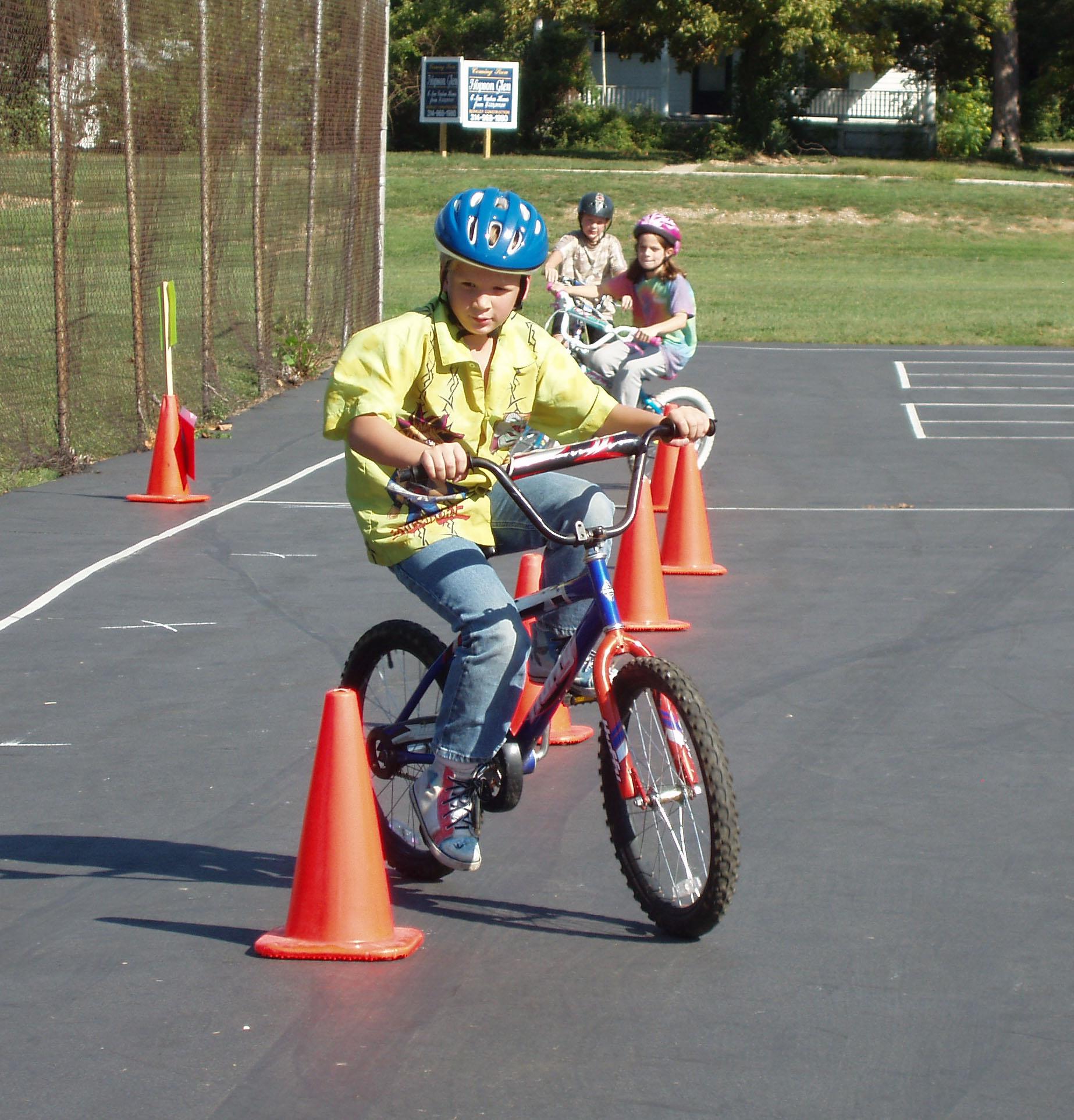 cyclist pilons