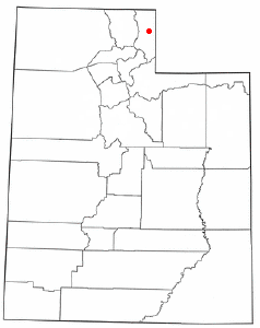 Location of Randolph, Utah