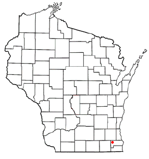 Location of Waterford (town), Wisconsin