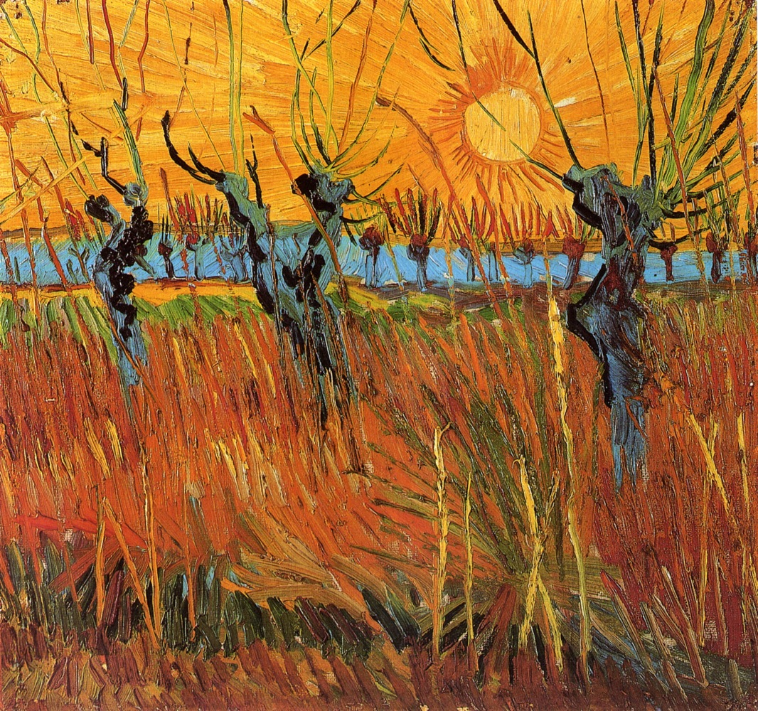 Image result for Willows at Sunset (1888, KröllerMüller Museum, Otterlo).