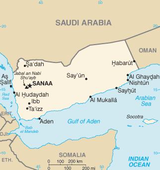 Mapa administracyjna Jemenu (Źródło: Wikipedia)
