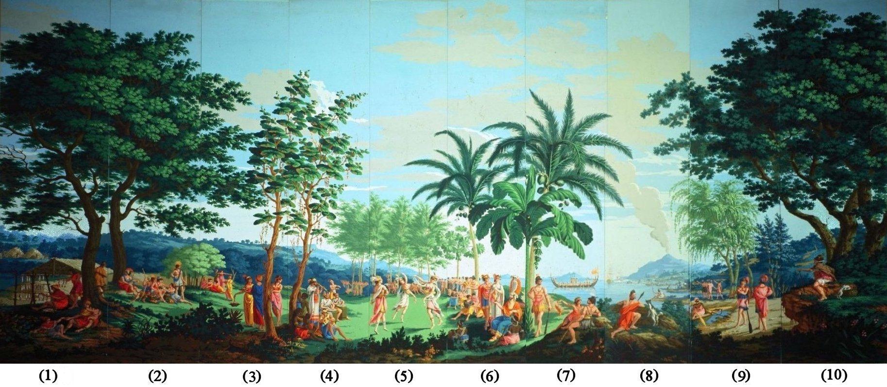 File 39 sauvages de la mer pacifique 39 panels 1 10 of for Printed wallpaper
