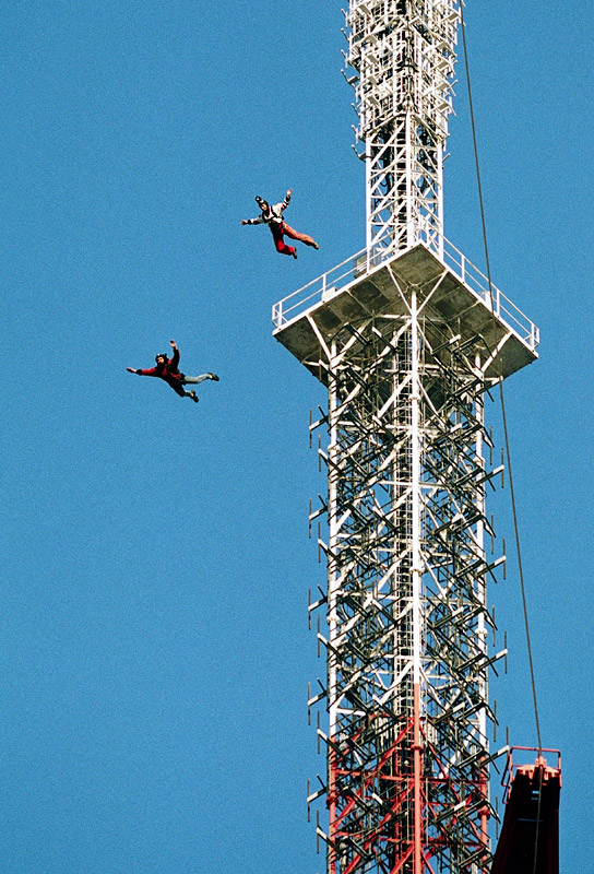 English: BASE Jump from an Antenna