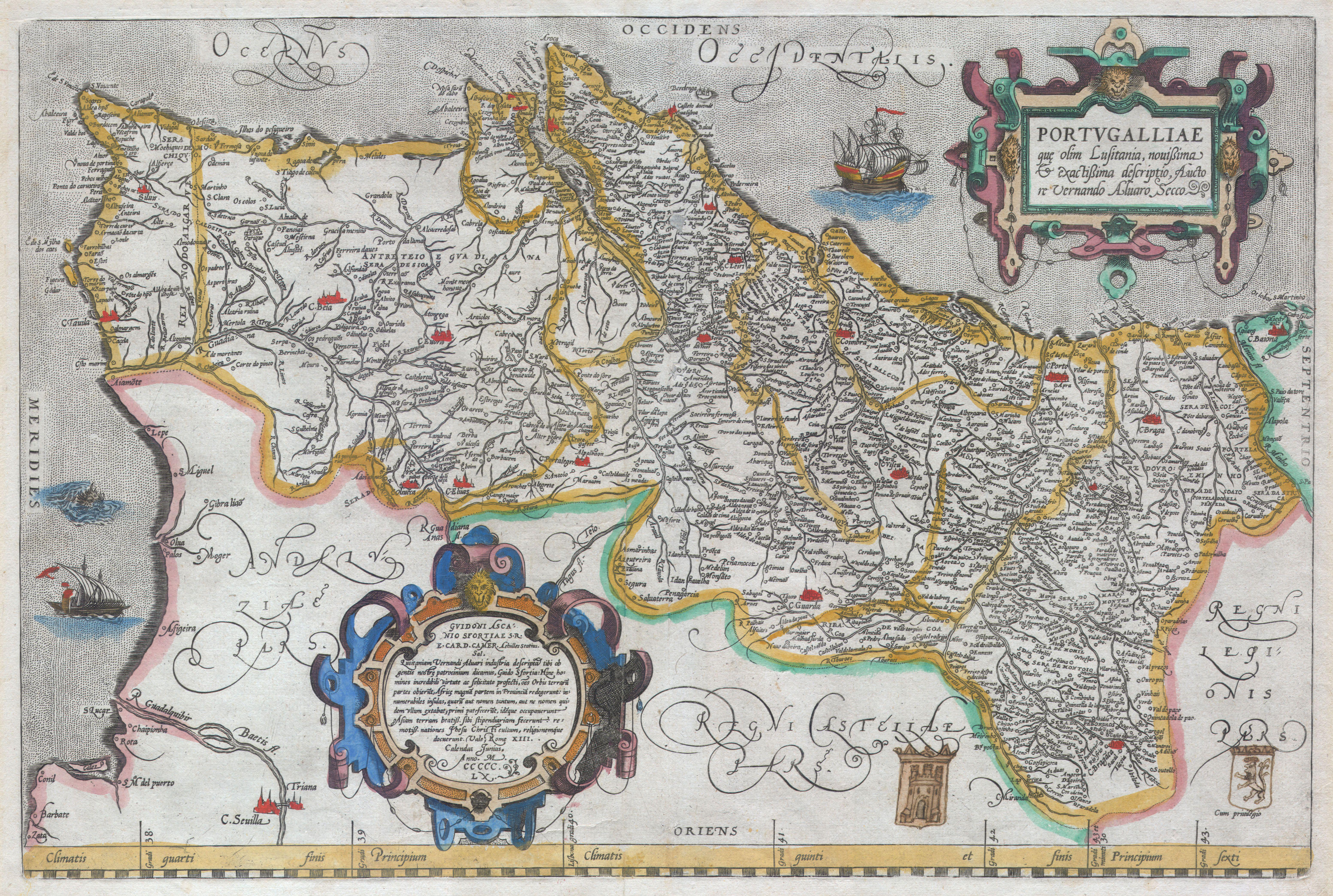 File Ortelius Map Of Portugal Porvgalliae Geographicus - Portugal map size