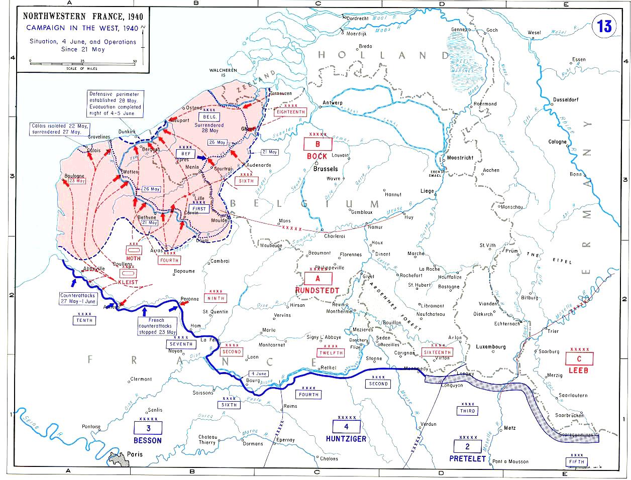 21. Mai–4. Juni: Einkesselung alliierter Kräfte bei Dünkirchen