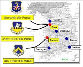 Seventh Air Force Wikipedia - Us Air Force Bases In Japan Map