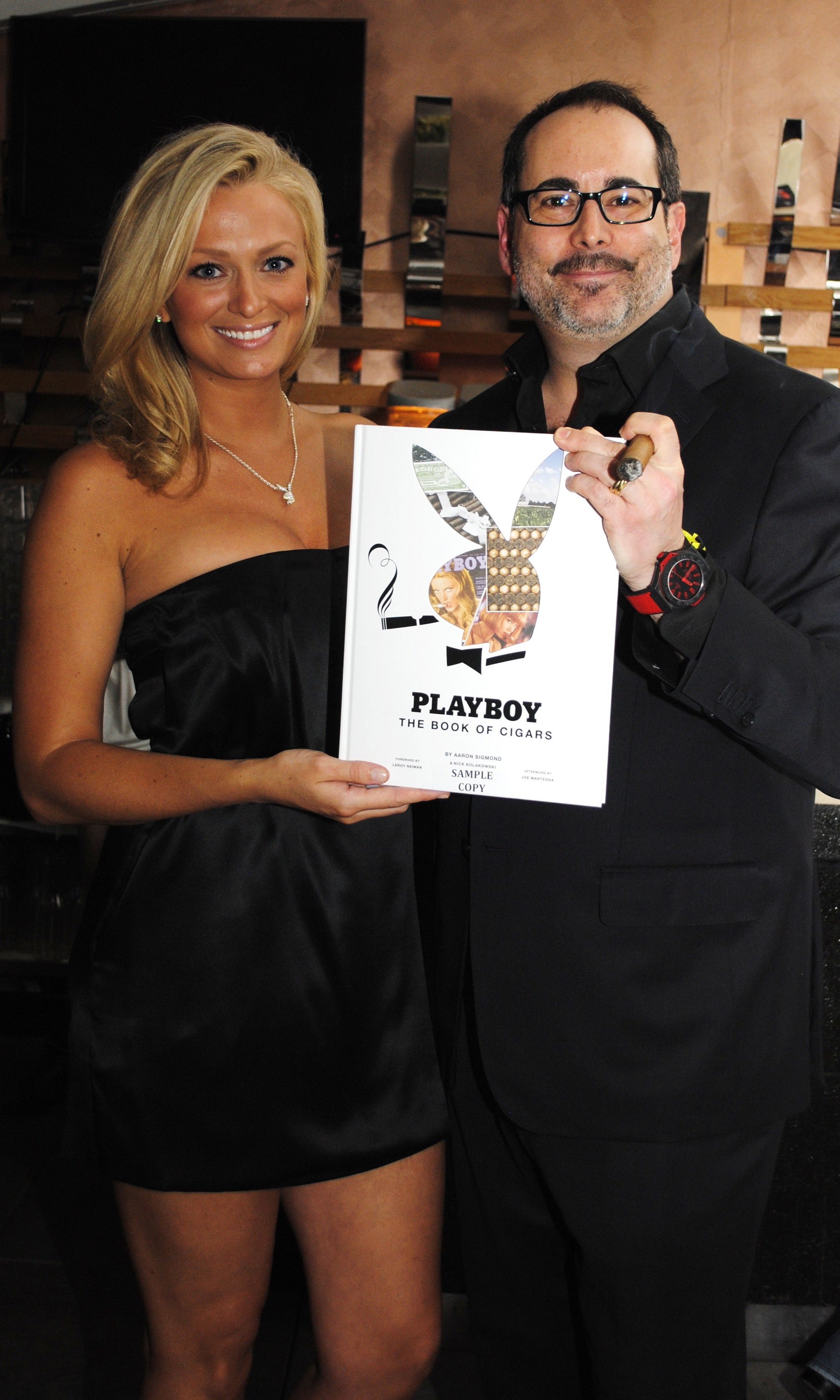 Sigmond At The Launch Of Playboy Book Cigars In 2010