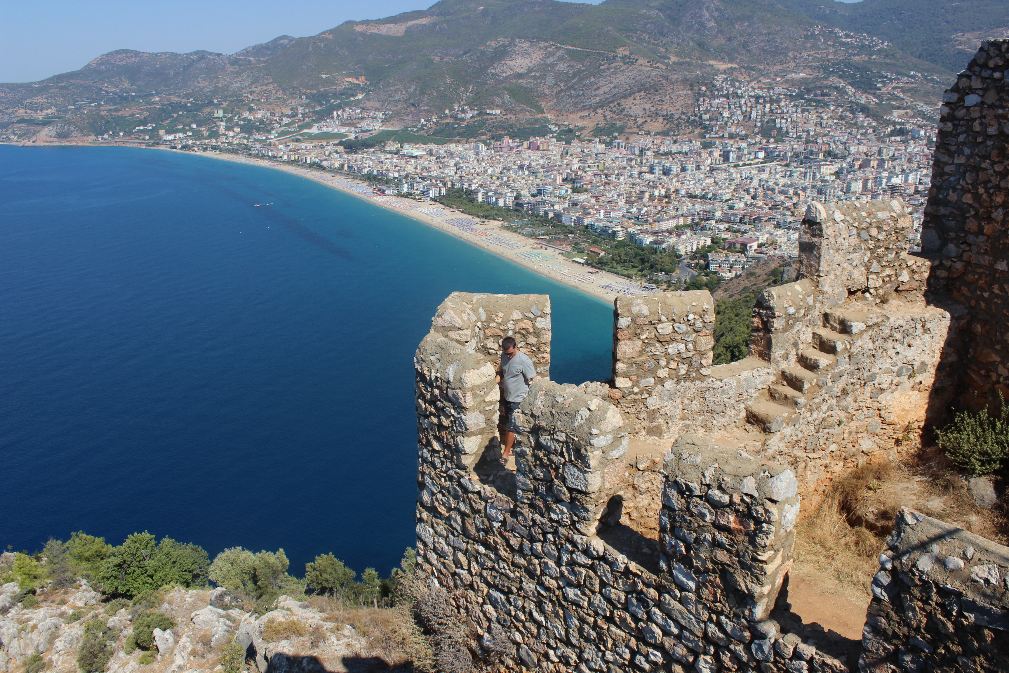 View from top of Alanya Castle