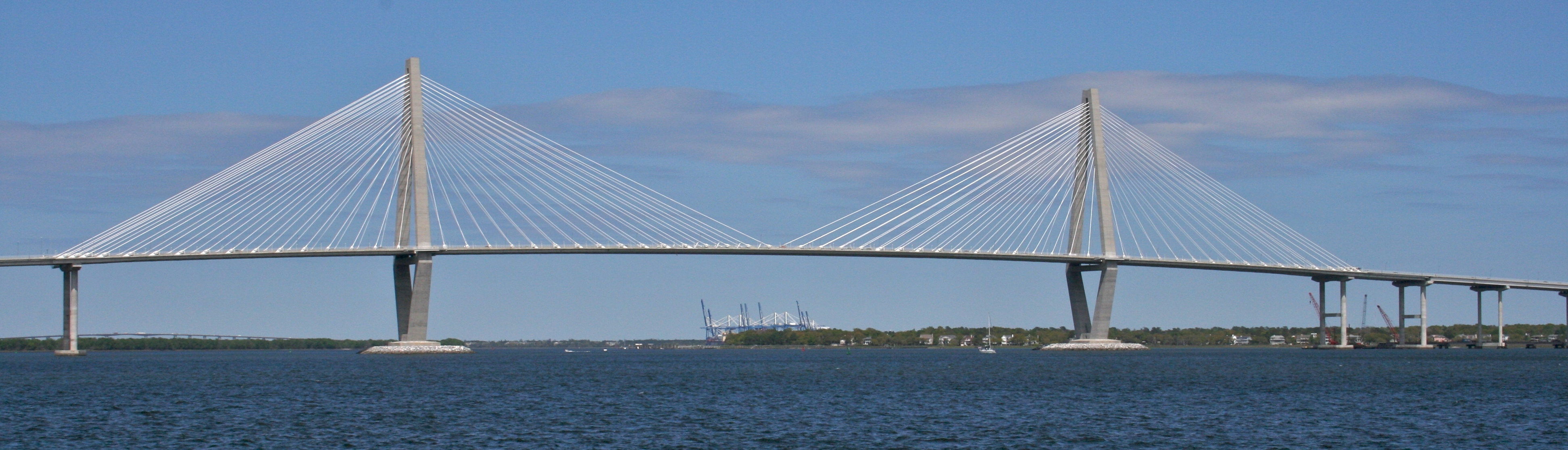 The Arthur Ravenel Jr. Bridge from Charleston Harbor.