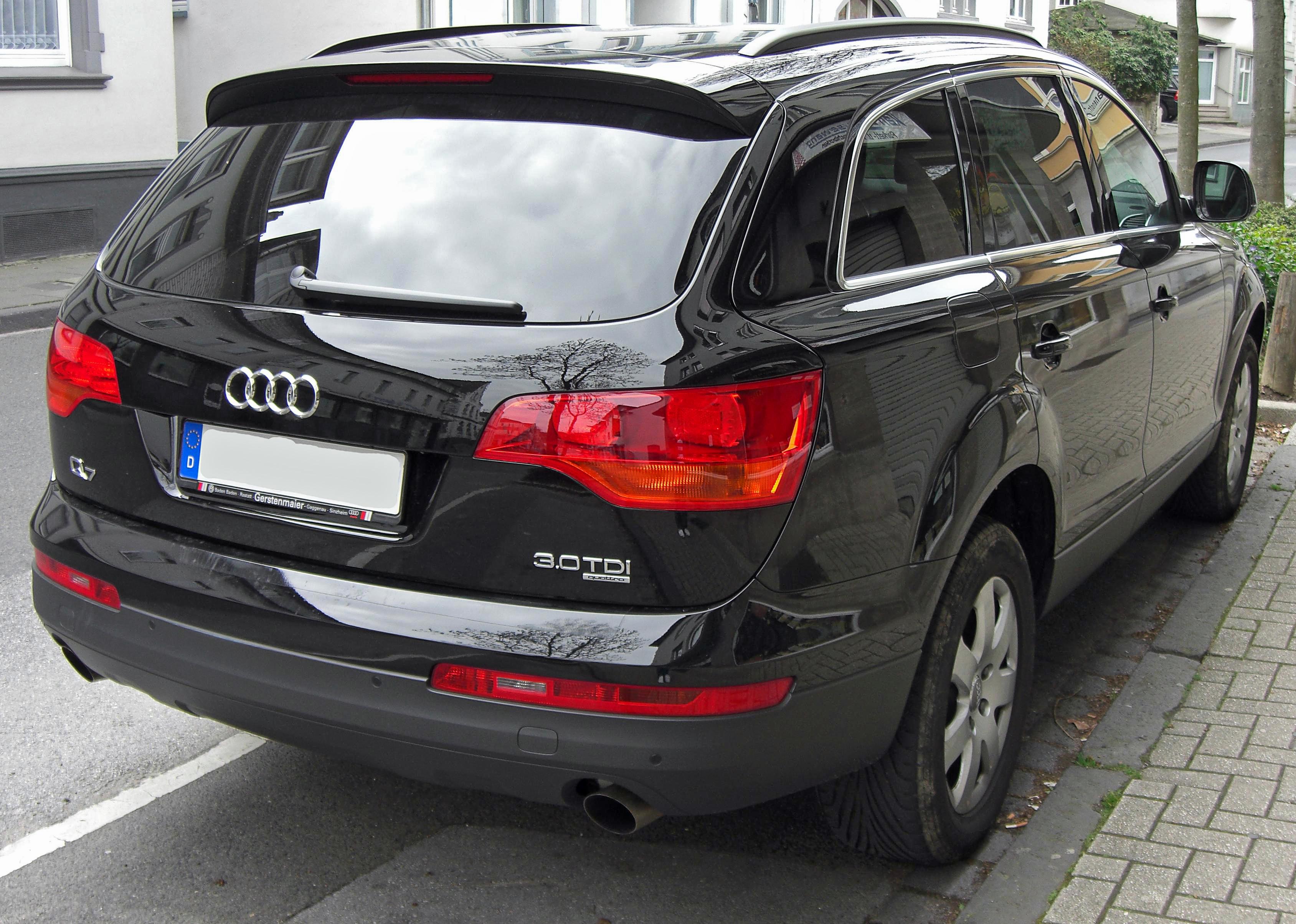 File Audi Q7 3 0tdi Quattro Rear Jpg Wikimedia Commons