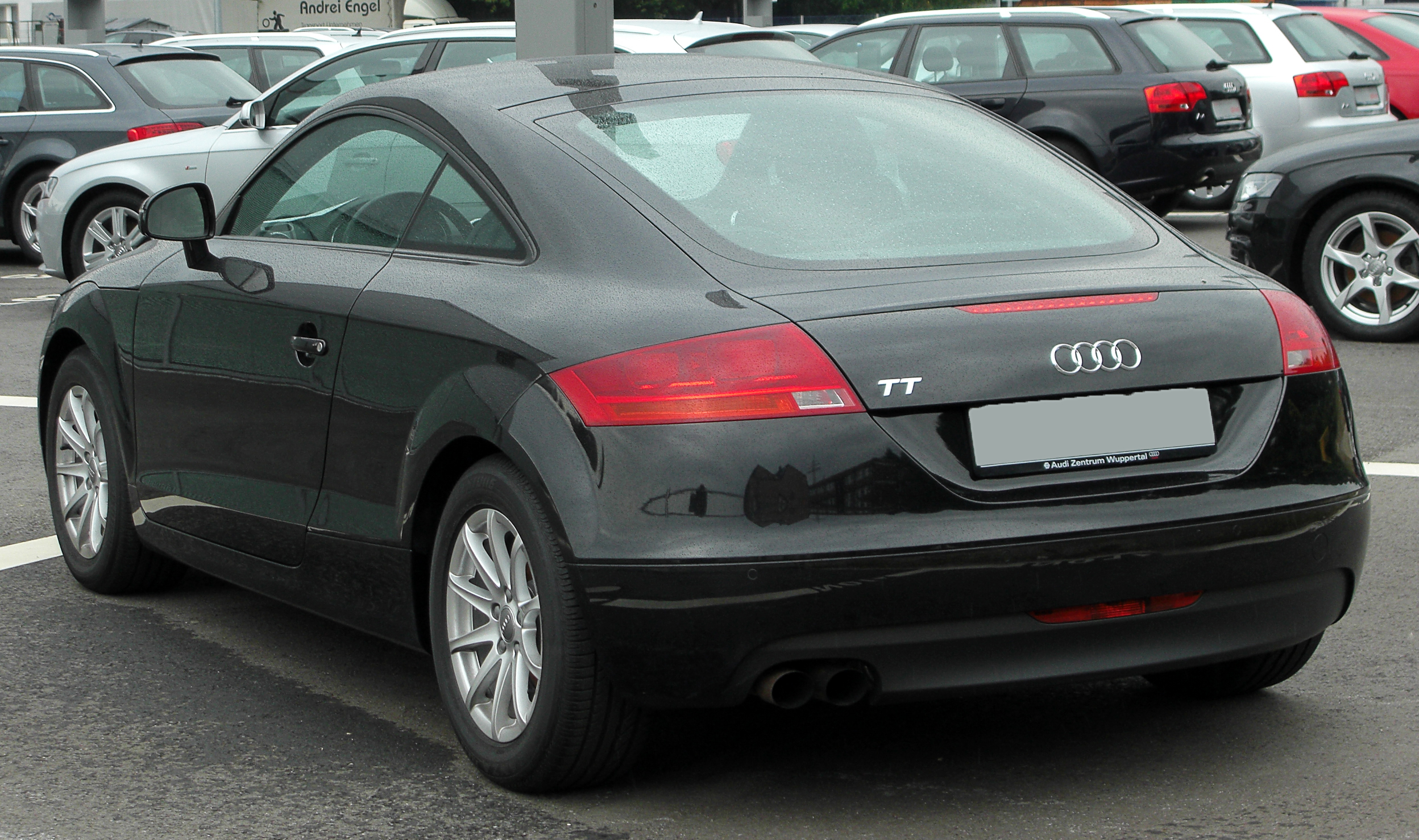 file audi tt coup 8j rear wikimedia commons. Black Bedroom Furniture Sets. Home Design Ideas