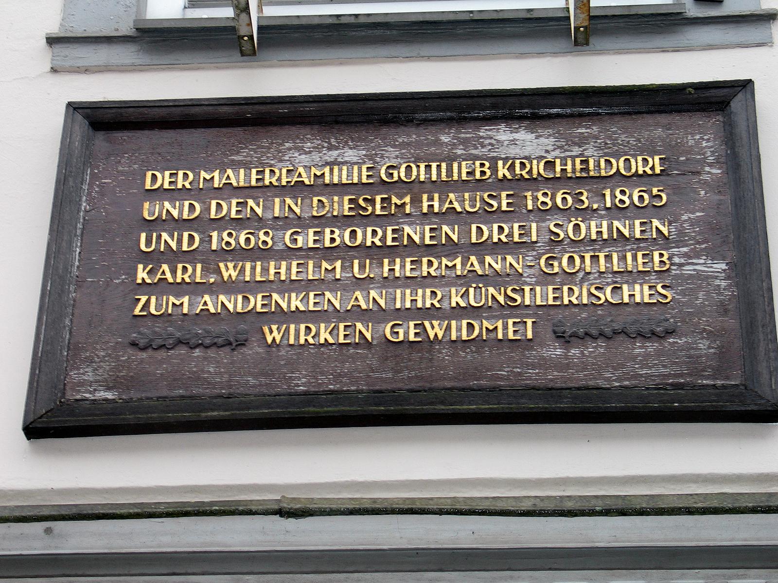 Maler Celle file bergstraße 30 celle holztafel gewidmet der malerfamilie