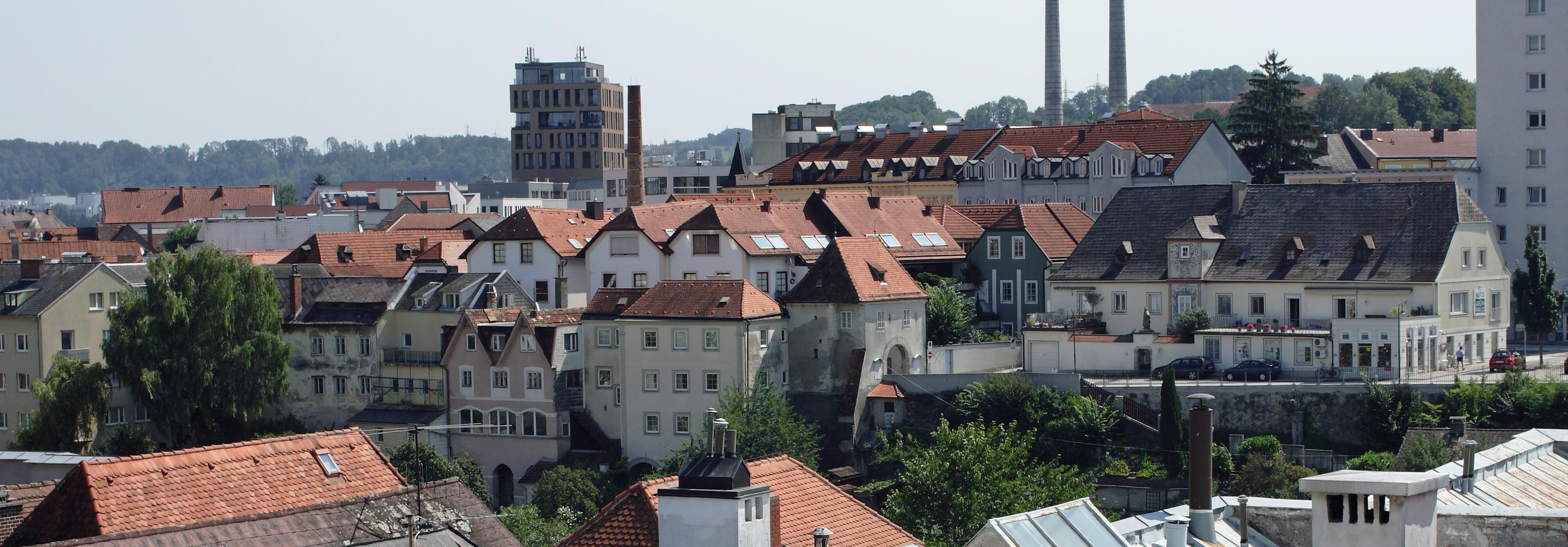 Blick auf den Stadtteil Ennsdorf