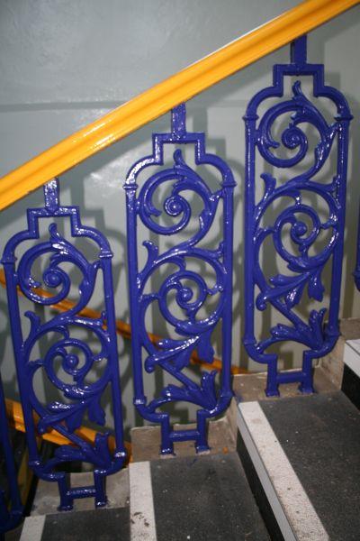 File:Blue banister rails - geograph.org.uk - 1164152.jpg