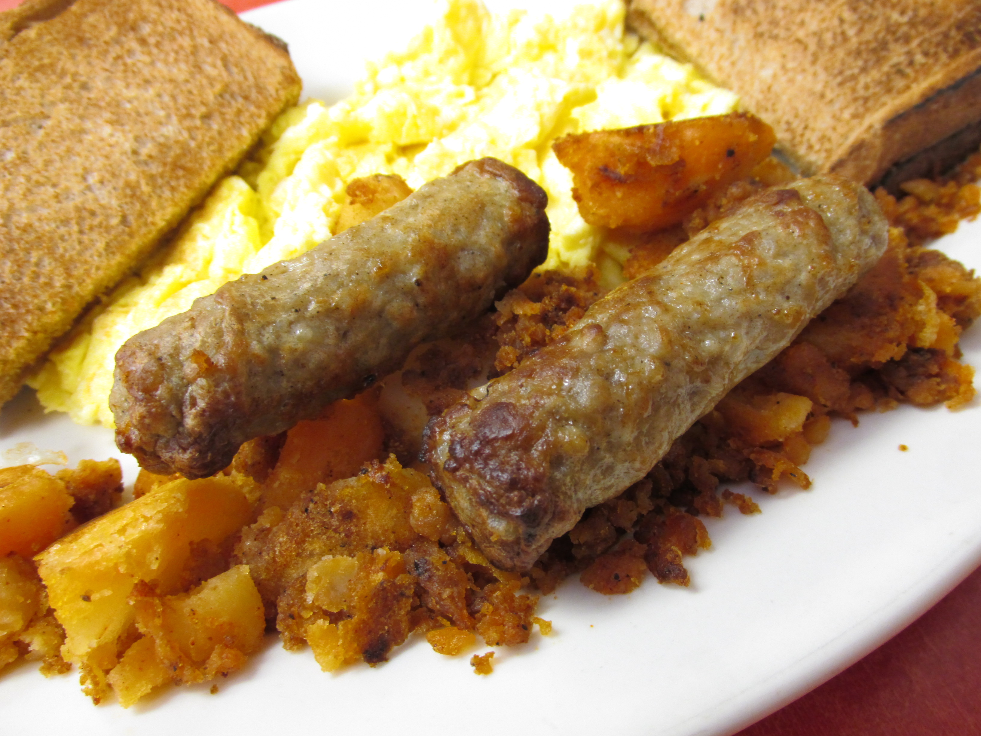 File:Breakfast Sausage, Ye Olde Cottage Restaurant, Weston ...