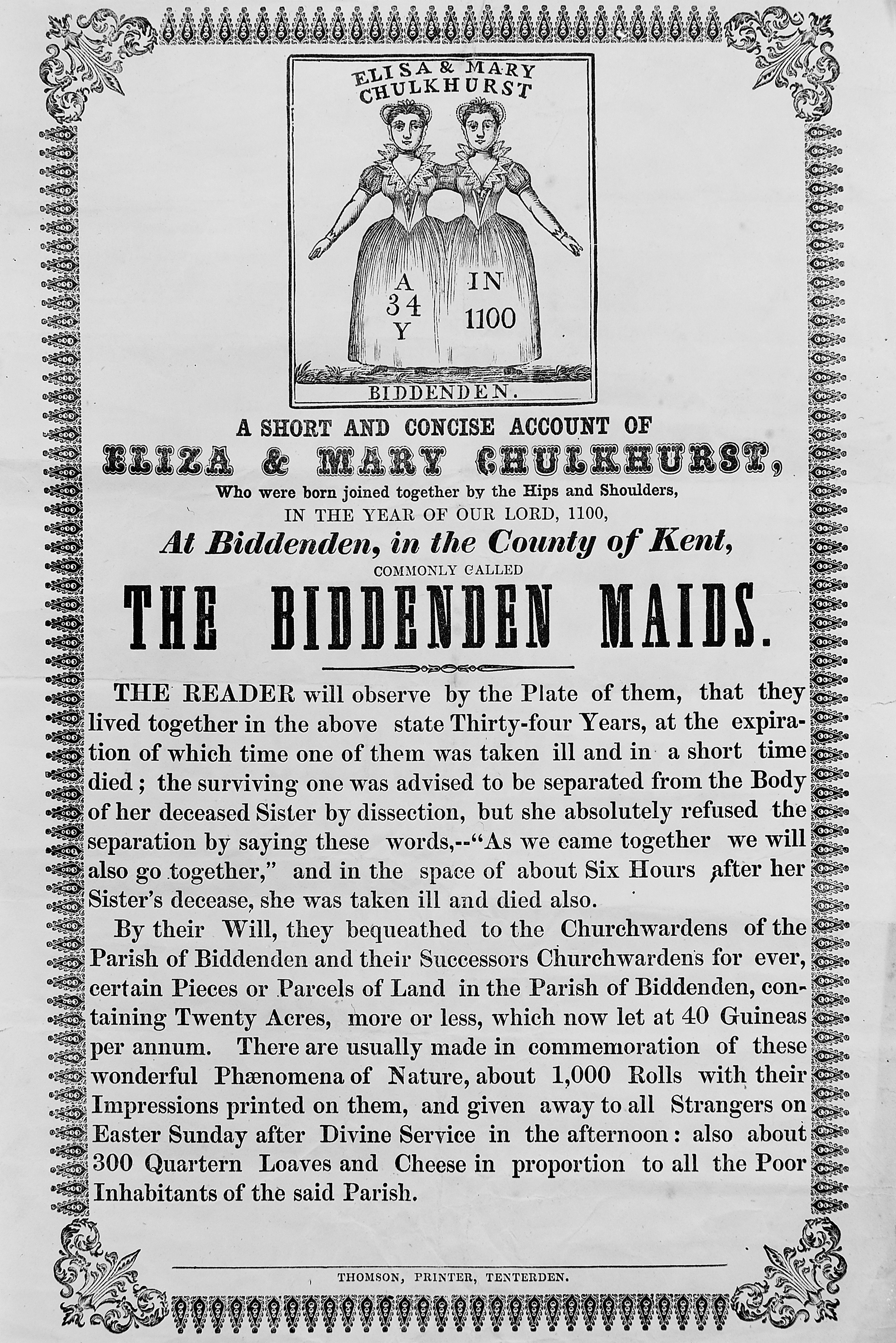 File:Broadside of the Biddenden Maids, Eliza and Mary ...