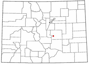 Location of Fort Carson, Colorado