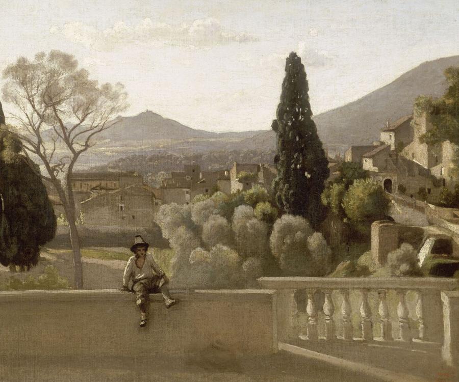 Les Jardins de la villa d'Este à Tivoli, 1843