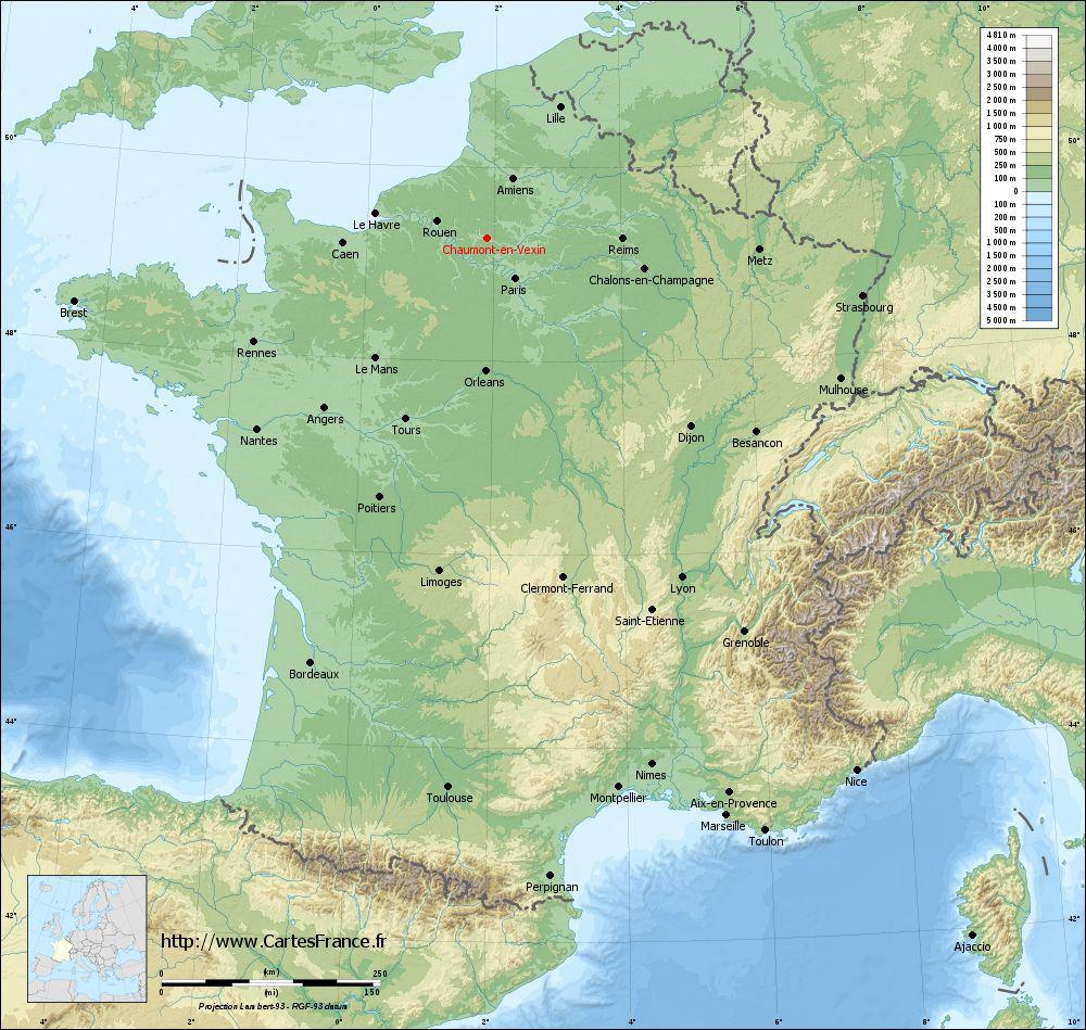 carte de france en relief File:Carte relief lambert grandes villes Chaumont en Vexin.