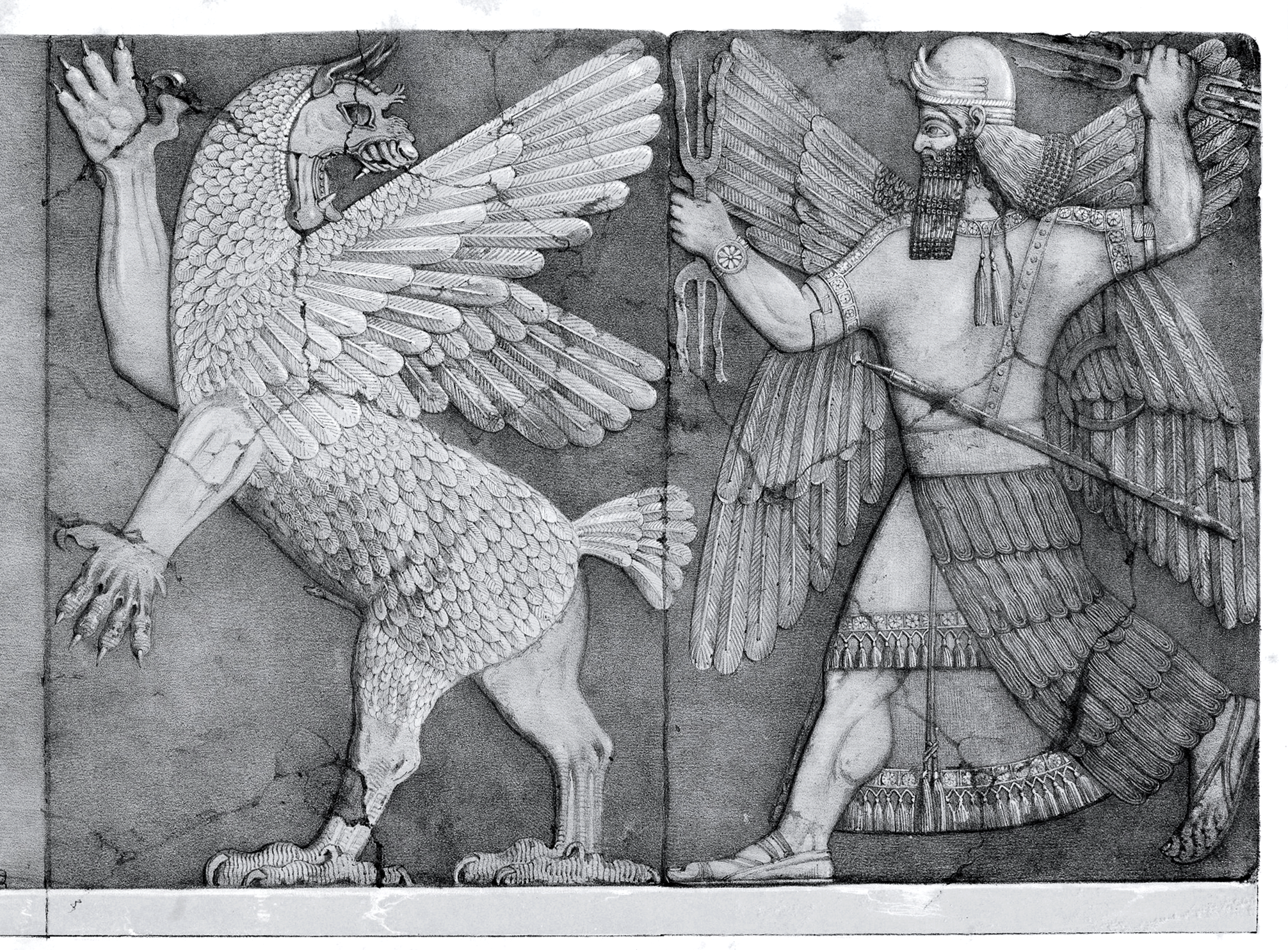 epic of gilgamesh  chaos monster and sun god