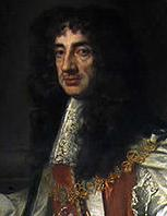 Portrait of King Charles II of England, in the robes of the Order of the Garter
