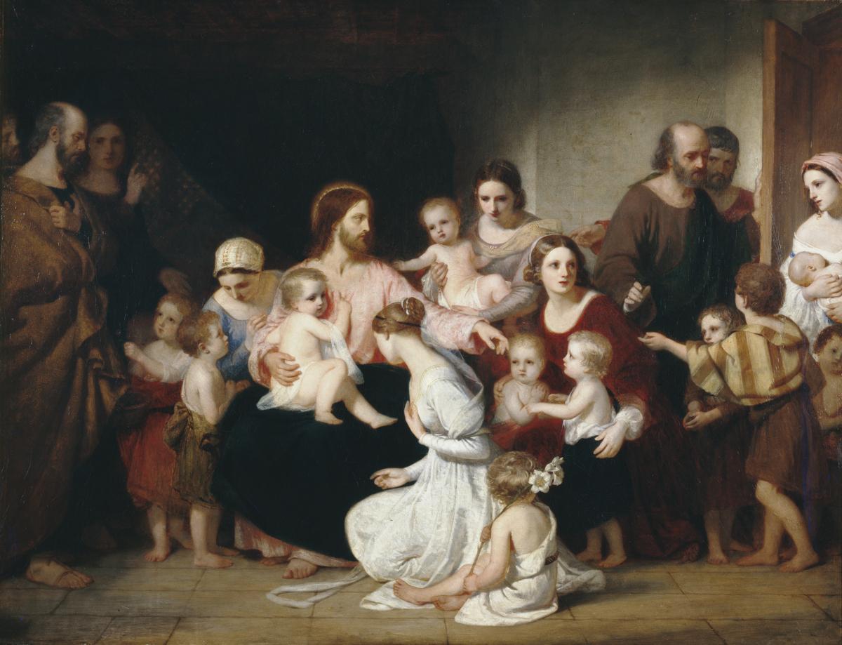 Datei:Charles Lock Eastlake - Christ Blessing Little Children.jpg