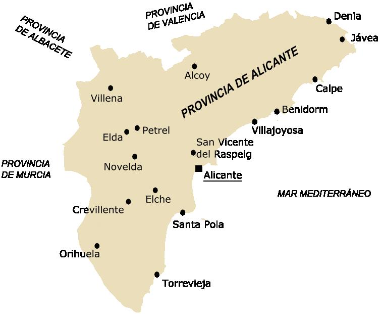 Аликанте испания провинция