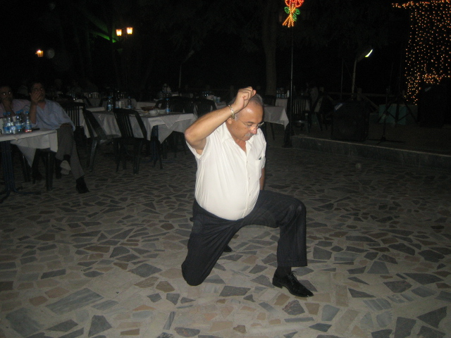 A zeybek dancer
