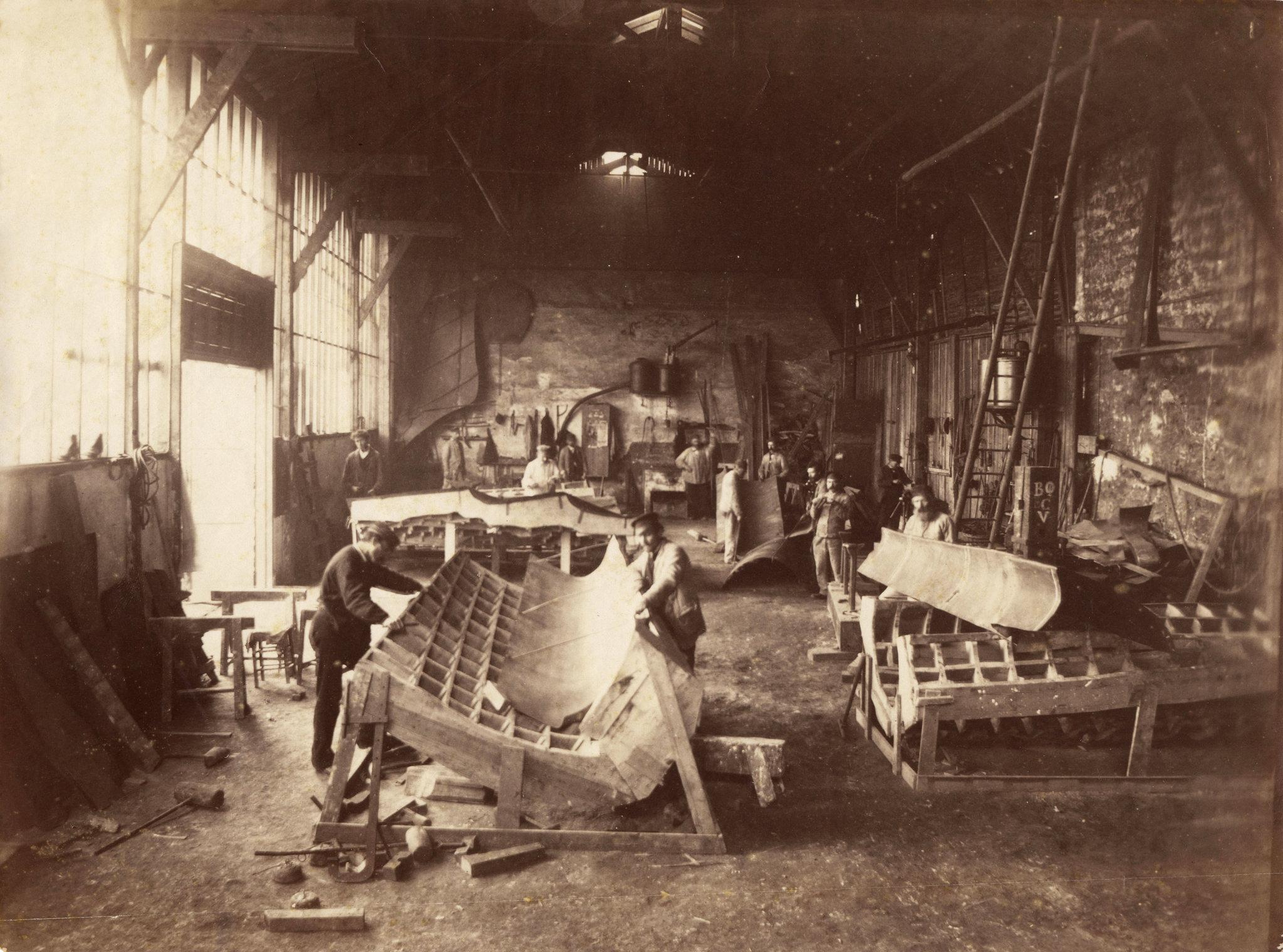 Construction of the Statue of Liberty, Paris Workshop of Gaget, Gauthier et Cie, ca.1878